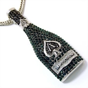 Iced Out Armand Brignac Pendant