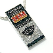 Green Iced out Swisher Sweets Cigarillos Pendant