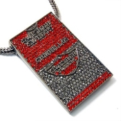 Red Iced out Swisher Sweets Cigarillos Pendant