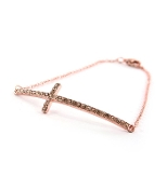 Copper Cross Bracelet