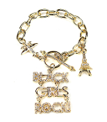 Black Girls Rock Bracelet - Gold