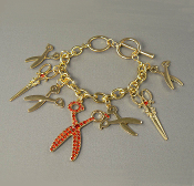 Gold Scissors toggle Bracelet