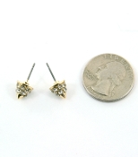 Gold Small Spike Earrings