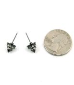 Hematite Small Spike Earrings