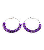 Purple Rondelle Eaarrings