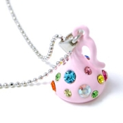 Pink Kiss Pendant Necklace