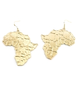 Gold Africa Map Earrings
