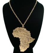 Gold Color Africa Necklace
