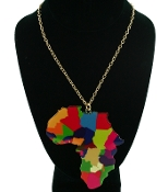 Multi Color Africa Necklace