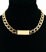 Gold ID Necklace - Medium