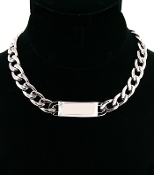 Silver ID Necklace - Medium