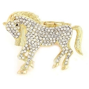 Gold Stretch Horse Bracelet