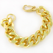 Thick Gold Plated Chain Bracelet