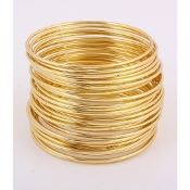 Gold Multi Pcs Bangle