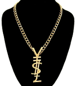 Gold Color Y$L Necklace