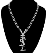 Silver Color Y$L Necklace