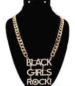 Large Black Girls Rock Necklace