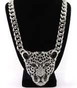 Crystal Pave Leopard Necklace