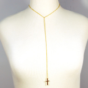 Simple Long Chain Cross Necklace