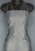 Body Chain - Diamond Patterend Front - Silver