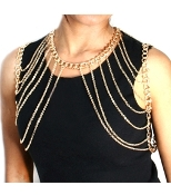 Heavy Double Shoulder Chain - Gold