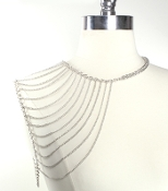 Single Shoulder Chain - Silver