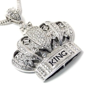 Iced Out King Crown Pendant
