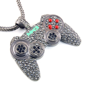 Iced Out Game Controller Pendant