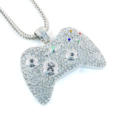 Iced Out Game Controller Pendant - Small