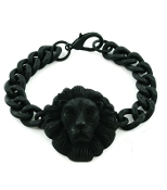 Lion Head Bracelet - Black