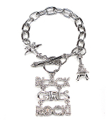 Black Girls Rock Bracelet - Silver