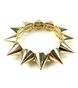 Gold Metal Spike Bracelet