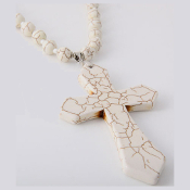Howlite Cross Necklace