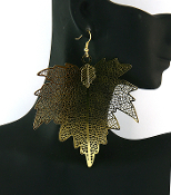 Gold Leaf Earrings