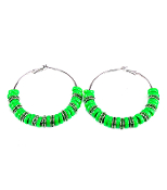 Green Rondelle Eaarrings