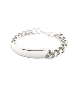Rhodium Plated ID Bracelet