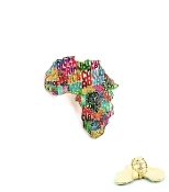 Multi Color Africa Map W Names Ring