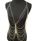 Body Chain - Crystal Front Drape