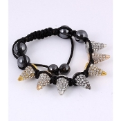 Multi Color Rhinestone Spike Cone Bracelet