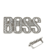 Silver Color n Crystal BOSS Knuckle Ring