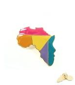 Multi Color Africa Map Ring
