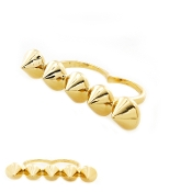Gold Spike Knuckle Ring